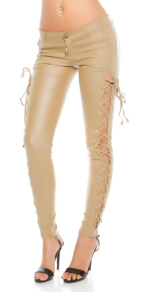 Koucla Béžové dámské kalhoty