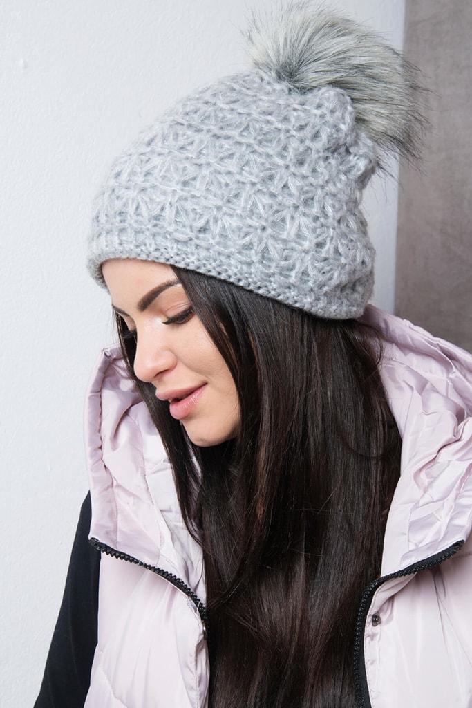 Kesi Zimní pletená čepice