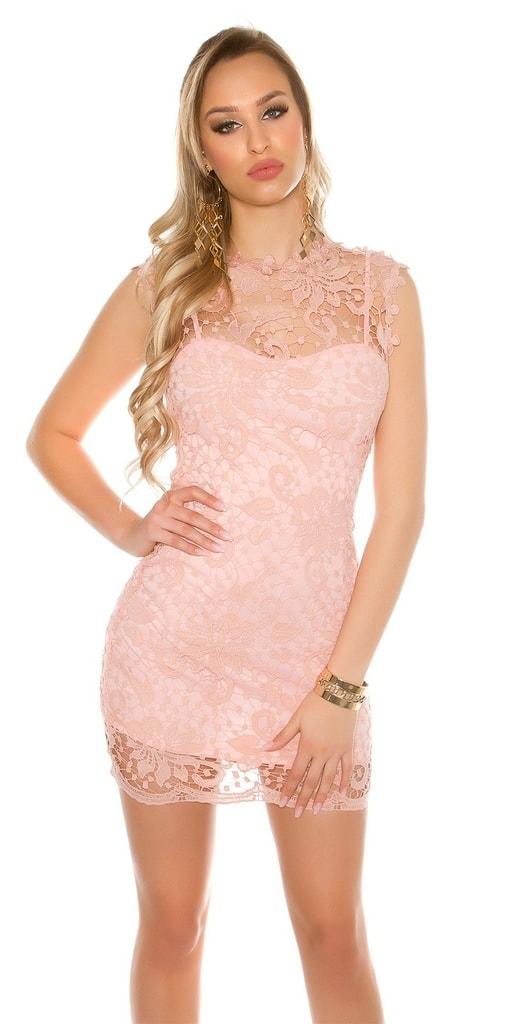 Koucla Krajkové dámské mini šaty
