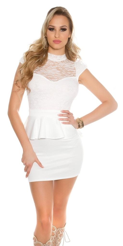 Koucla Dámské bílé šaty