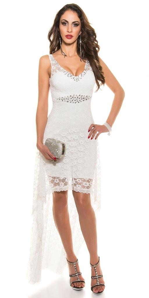 Koucla Koktejlové šaty bílé