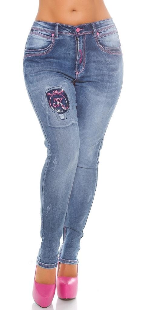 Koucla Dámské džíny Plus size