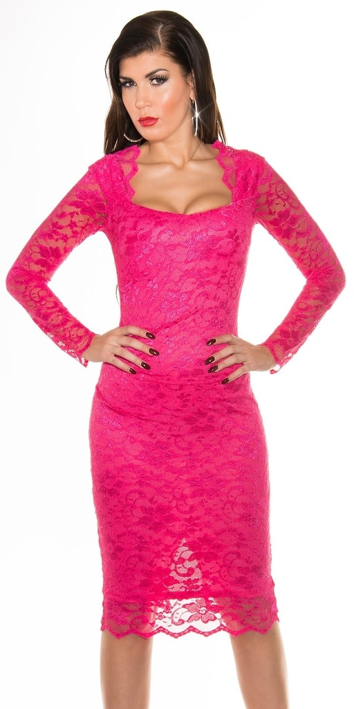 Koucla Růžové večerní šaty