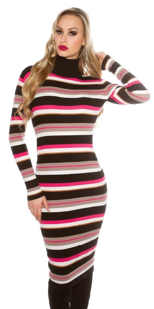 Koucla Pruhované úpletové šaty