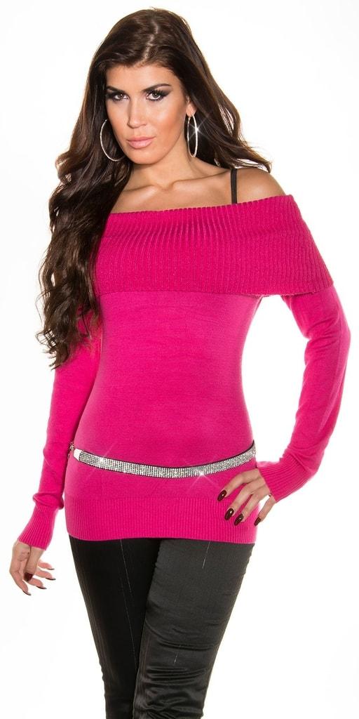 Koucla Růžový svetr Carmen