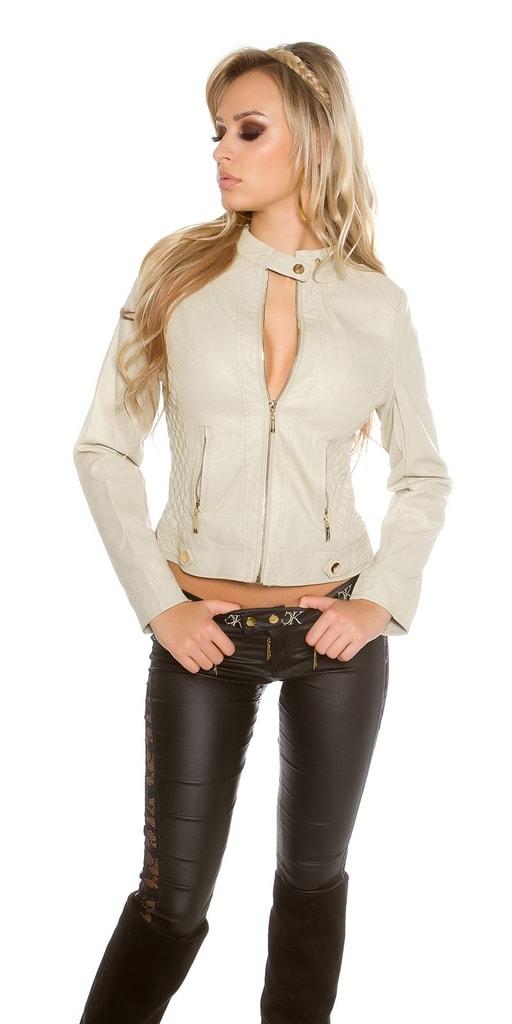 Koucla Krátká koženková bunda