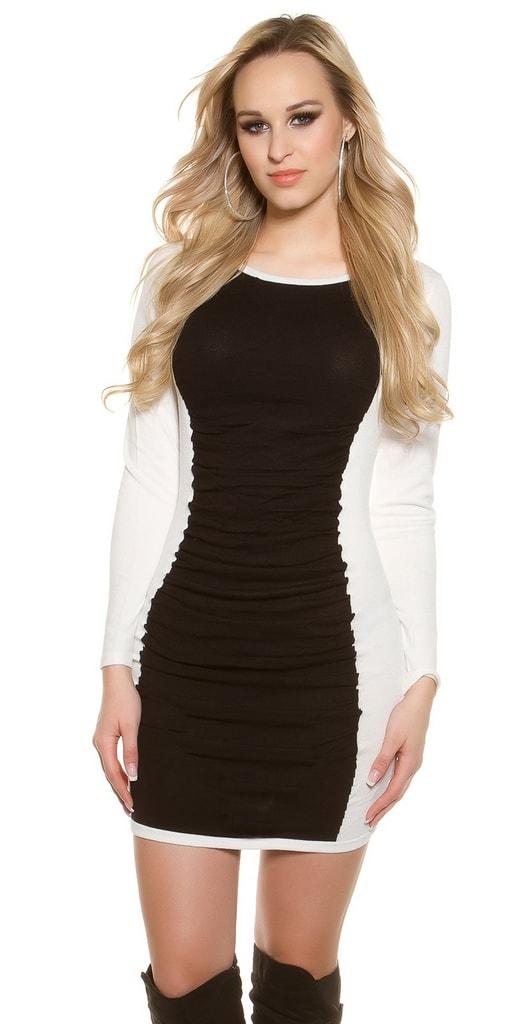 Koucla Dámské šaty Black & White