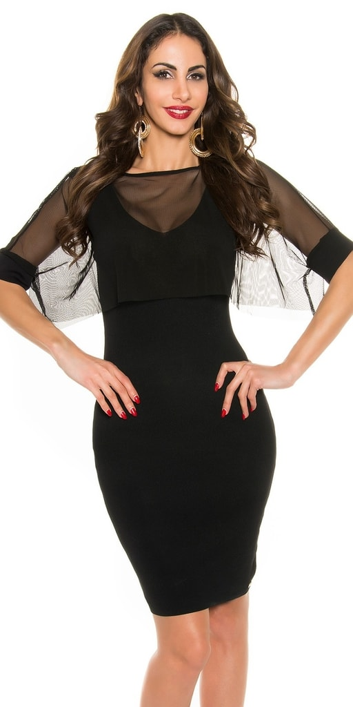 Koucla Černé večerní šaty