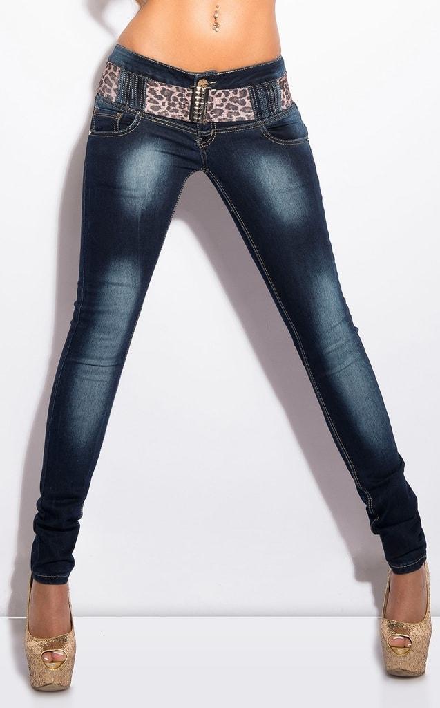 Koucla Úzké džíny dámské s páskem