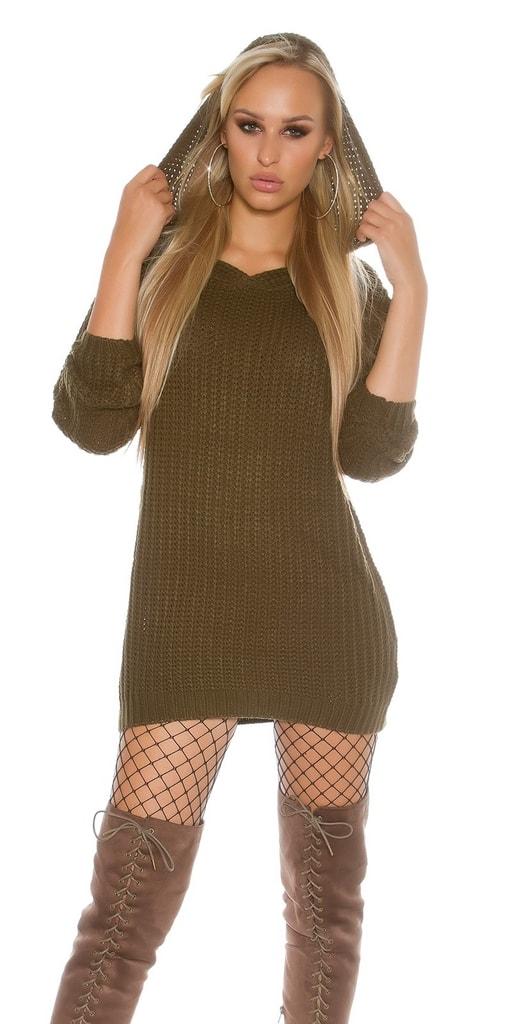 Koucla Pletený svetr s kapucí