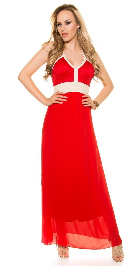 Koucla Červené trendy šaty