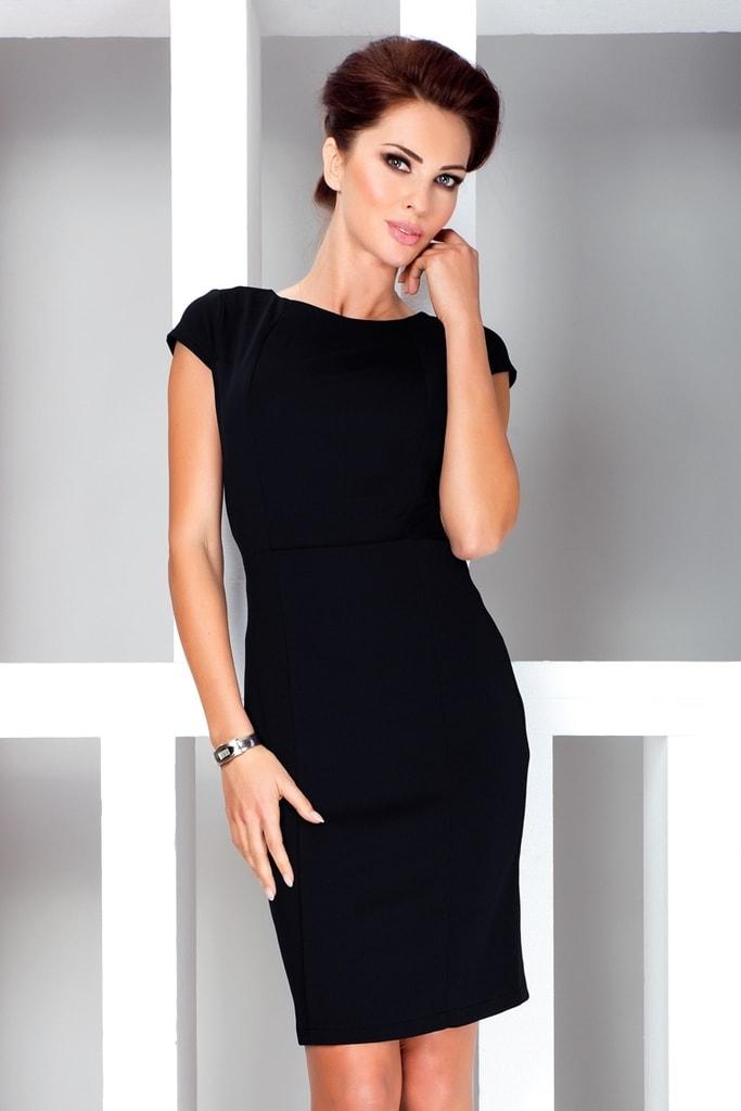 Numoco Dámské šaty s krátkými rukávy 37-3