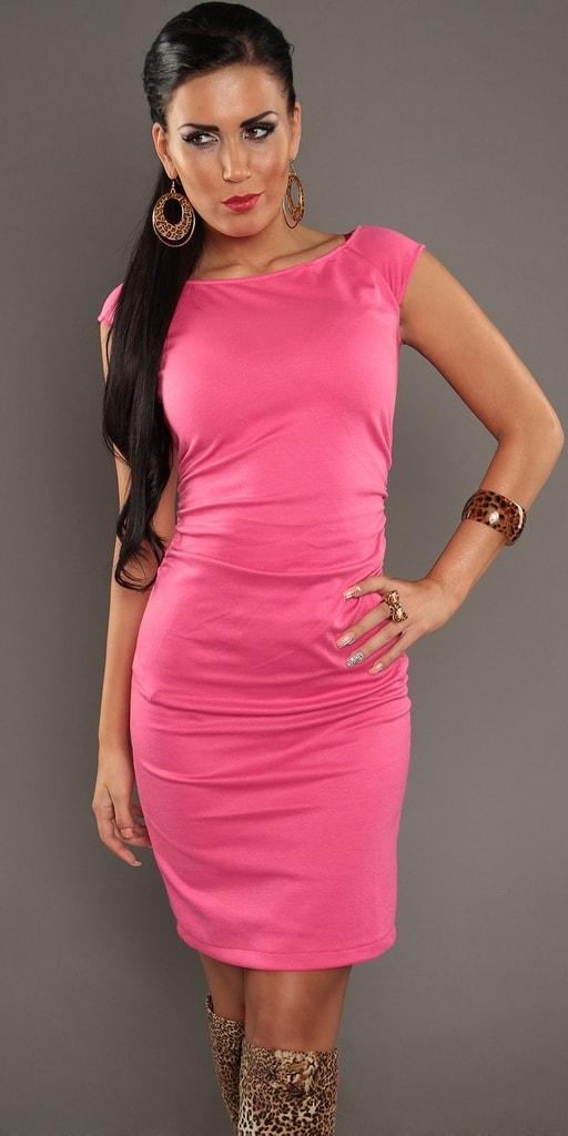 Koucla Růžové dámské šaty