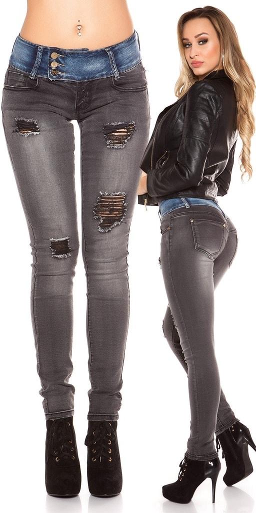 Koucla Černé dámské džíny