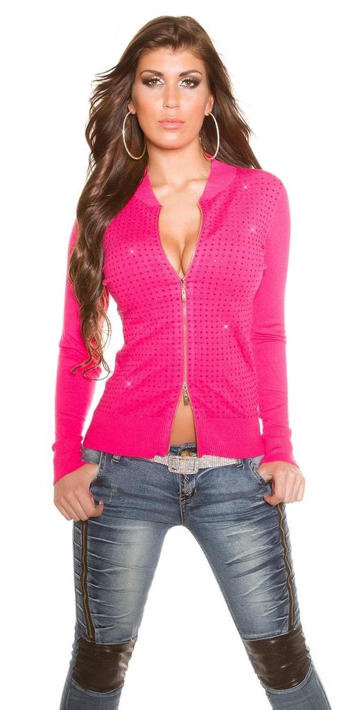 Koucla Růžový svetr na zip