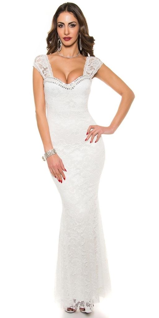 Koucla Bílé plesové šaty