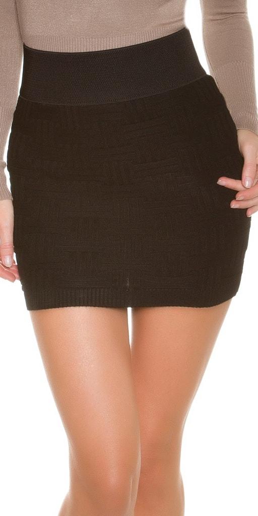 Koucla Dámská pletená sukně