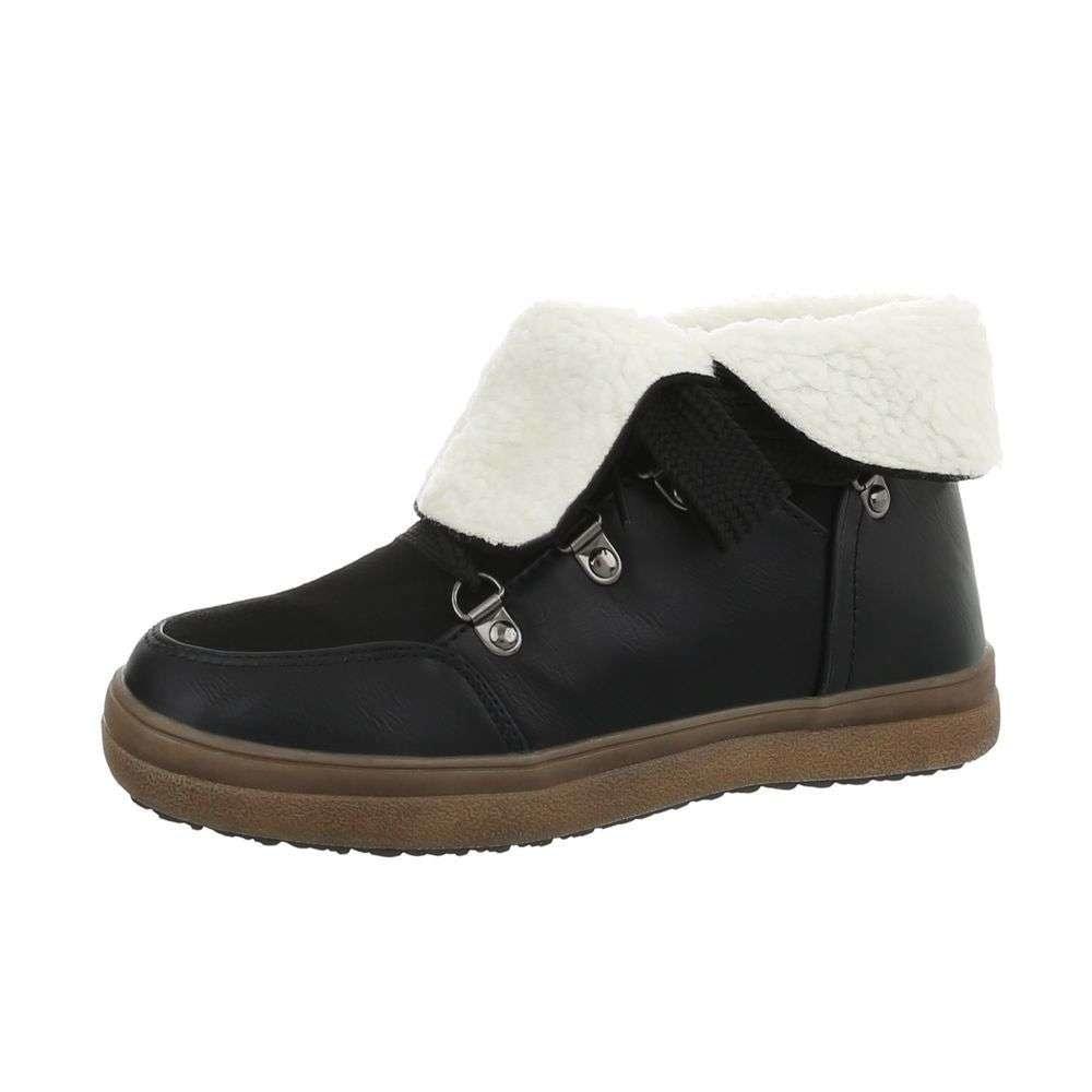 EU Kotníkové boty s kožíškem