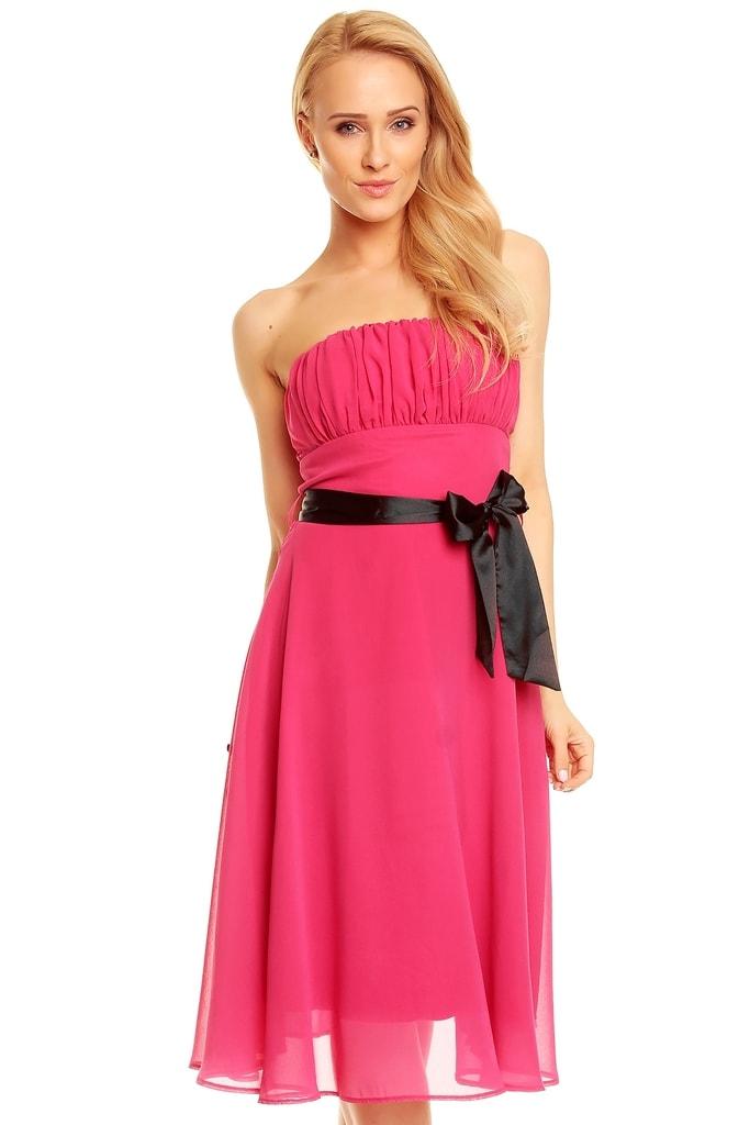 Mayaadi Dívčí společenské šaty růžové