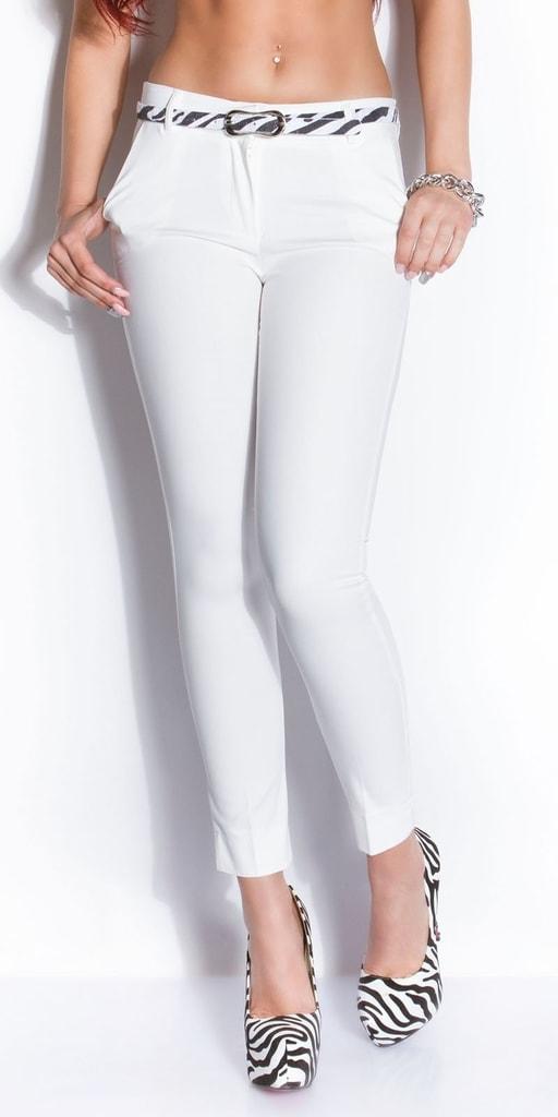 Koucla Bílé kalhoty s páskem