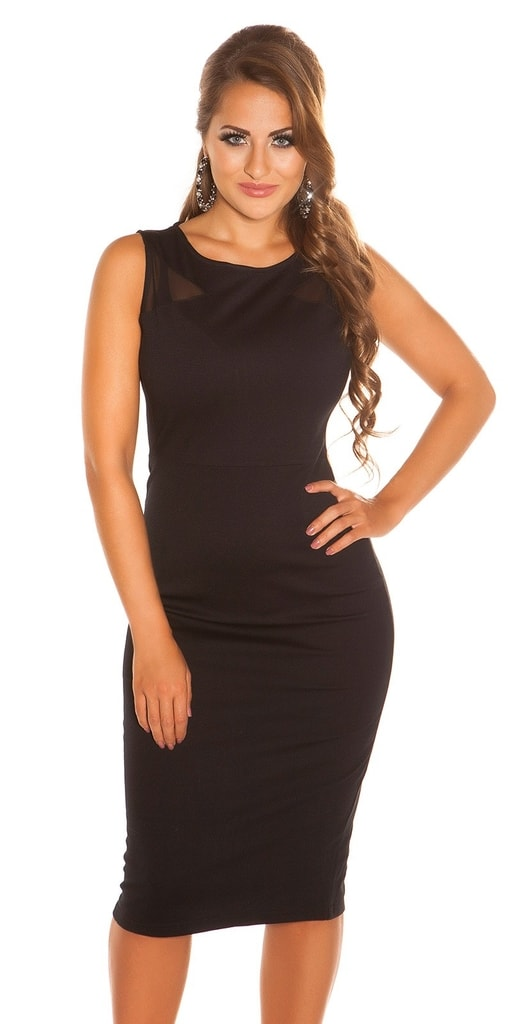 Koucla Dámské černé šaty