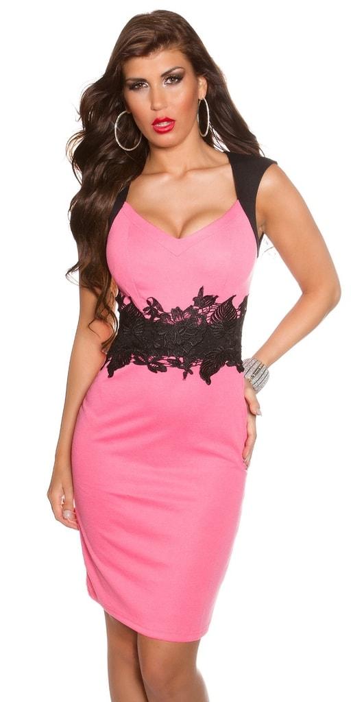 Koucla Růžové šaty dámské