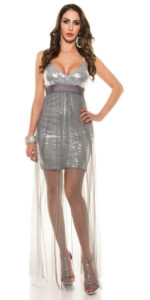 Koucla Společenské šaty šedé