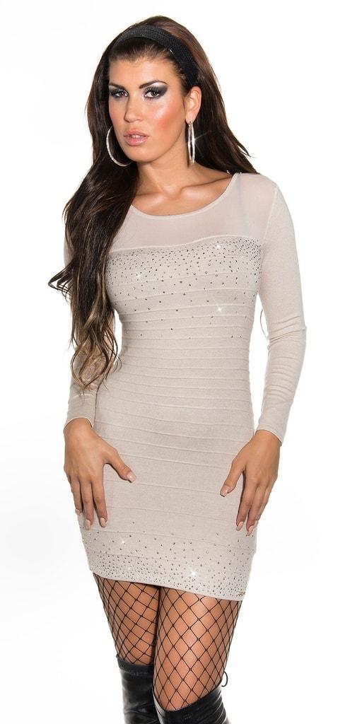 Koucla Elegantní úpletové mini šaty 6082475a071