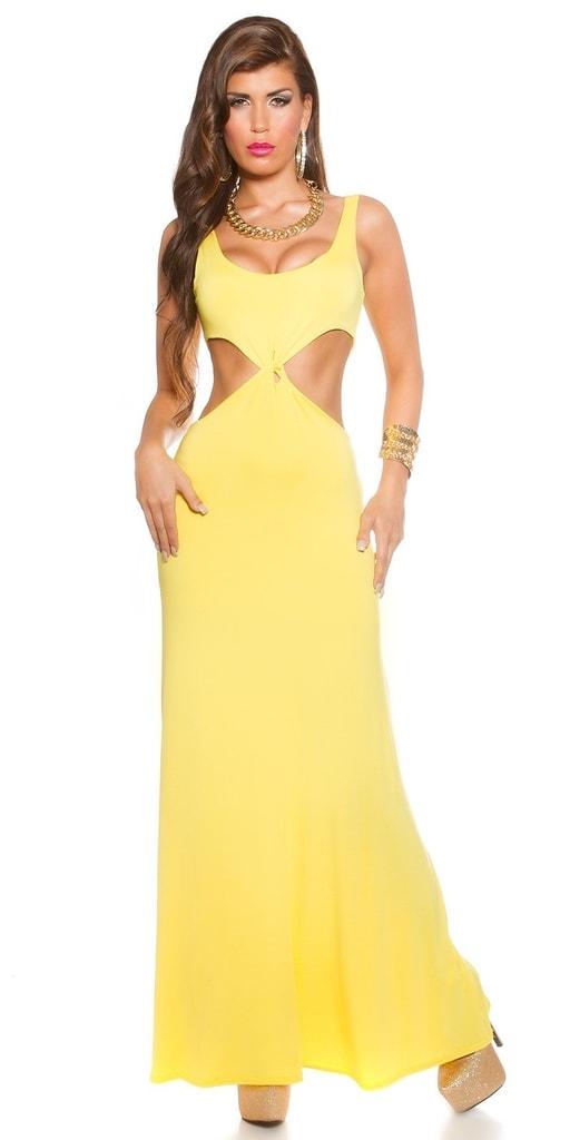 Koucla Žluté dámské šaty