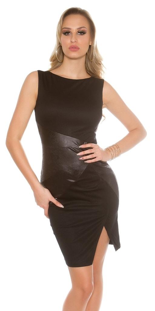 Koucla Pouzdrové černé šaty