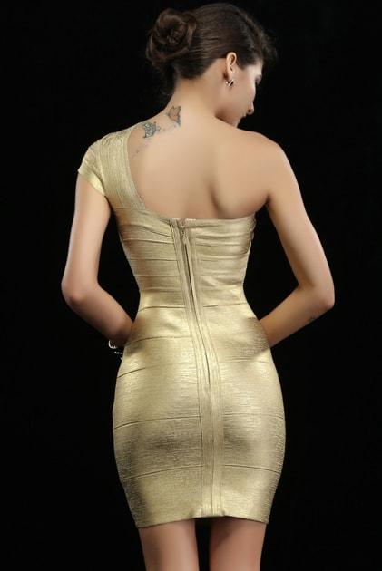 Bandage šaty na jedno rameno - DAMSON - Zoštíhľujúci šaty - vasa-moda.sk 8aae7b3d05