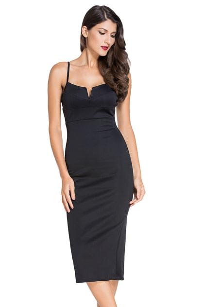 Koktejlové šaty čierne - DAMSON - Puzdrové šaty - vasa-moda.sk aa7fc853bde