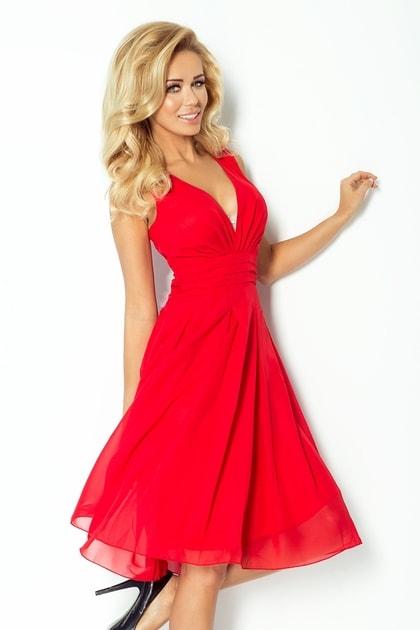 Červené dámské šaty 35-3 - Numoco - Krátké plesové šaty - i-moda.cz 864e4598da