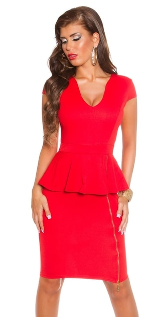Červené elegantné šaty - Koucla - Večerné šaty a koktejlové šaty - vasa-moda .sk 705c14665f