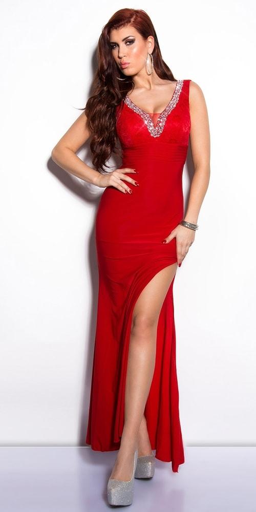 Červené elegantné šaty - Koucla - Večerné šaty a koktejlové šaty ... d159fc0882d
