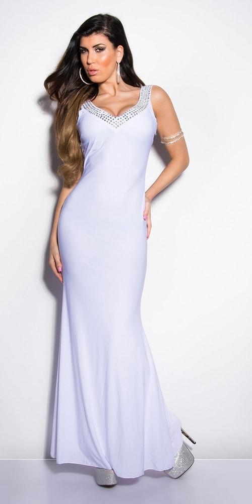 Biele plesové šaty - Koucla - Dlhé plesové šaty - vasa-moda.sk d2ec5d8f506