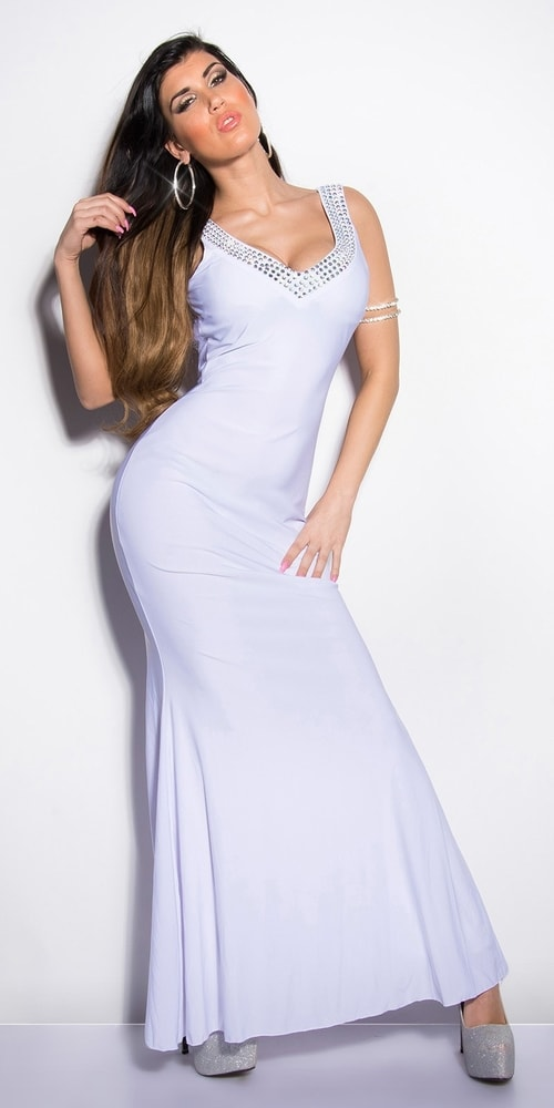 Biele plesové šaty - Koucla - Dlhé plesové šaty - vasa-moda.sk 01ff9354eec