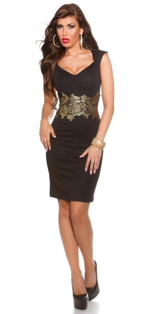 Puzdrové šaty čierne - Koucla - Večerné šaty a koktejlové šaty ... 632050f43ff