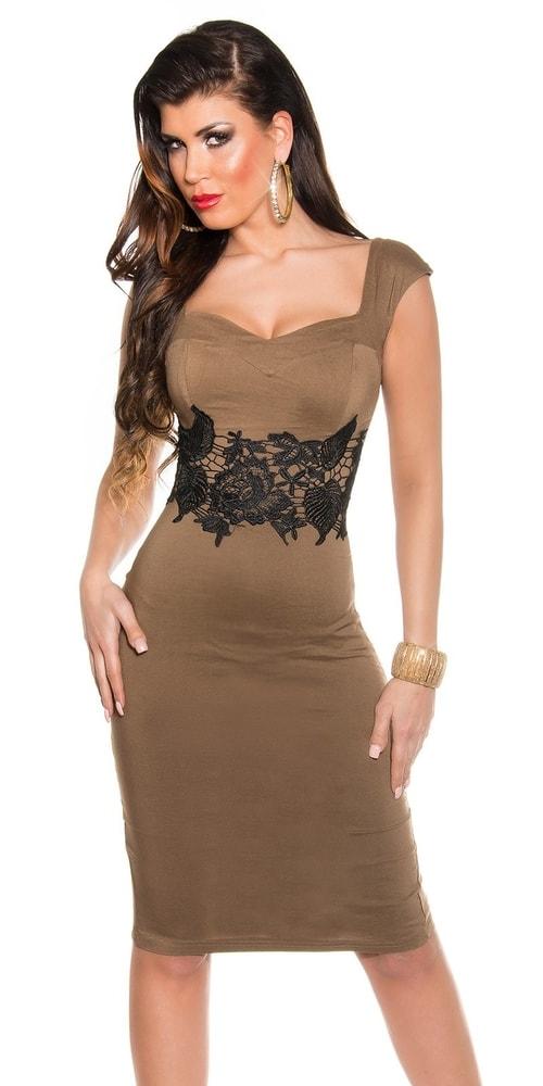 Večerné šaty hnedé - Koucla - Večerné šaty a koktejlové šaty - vasa ... 508753915bc