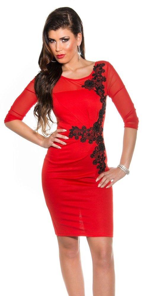 Červené šaty s čipkou - Koucla - Večerné šaty a koktejlové šaty - vasa ... 74e0c1a80e9