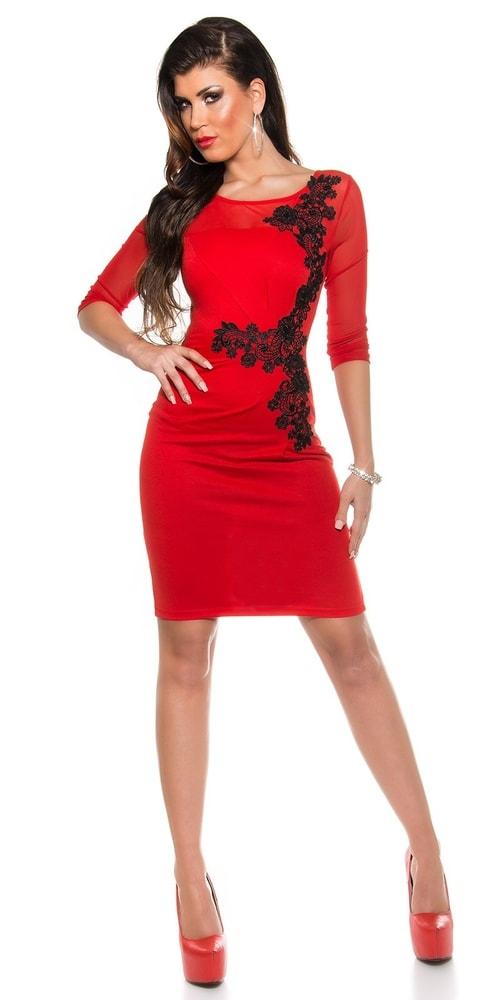 Červené šaty s čipkou - Koucla - Večerné šaty a koktejlové šaty ... 36f7f4175ce