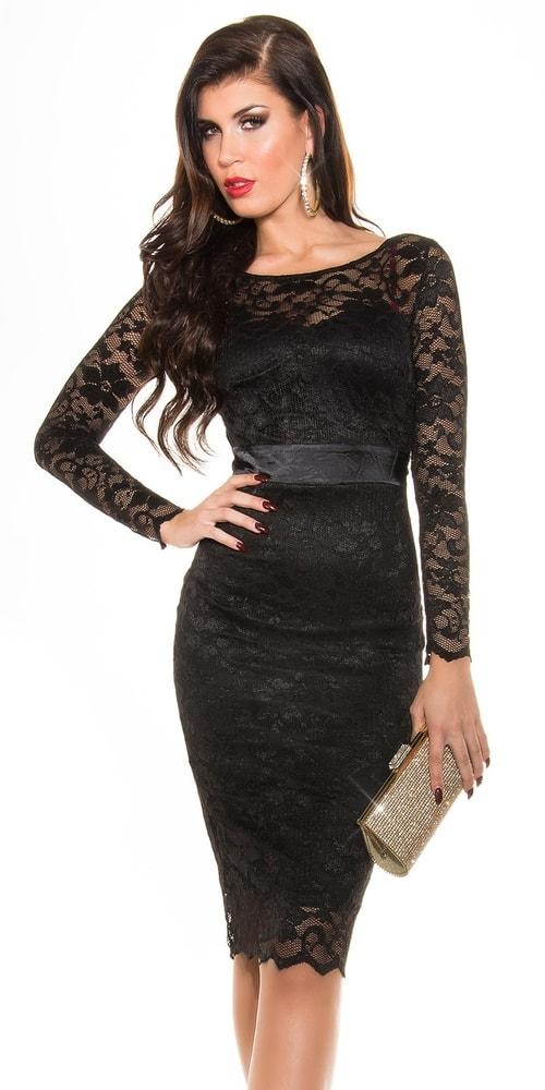 Čierne čipkované šaty - Koucla - Večerné šaty a koktejlové šaty - vasa ... 214b5066225
