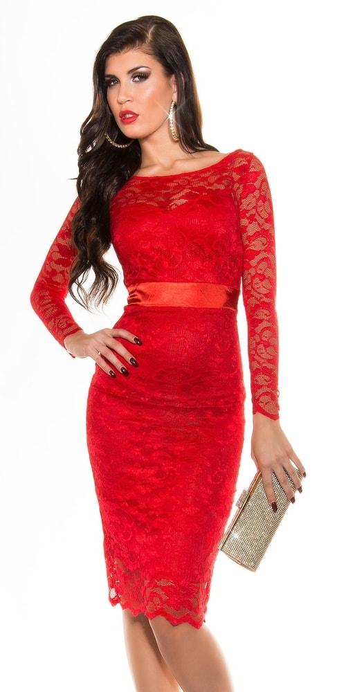 Červené šaty dámske - Koucla - Večerné šaty a koktejlové šaty - vasa ... c151bdb45bb