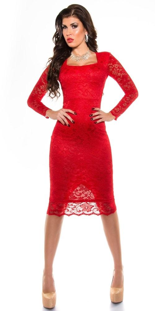 Červené večerné šaty - Koucla - Večerné šaty a koktejlové šaty ... bef13551de2