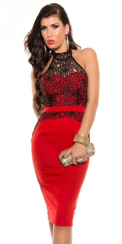 Puzdrové šaty červené - Koucla - Večerné šaty a koktejlové šaty - vasa ... c6149cbdd81