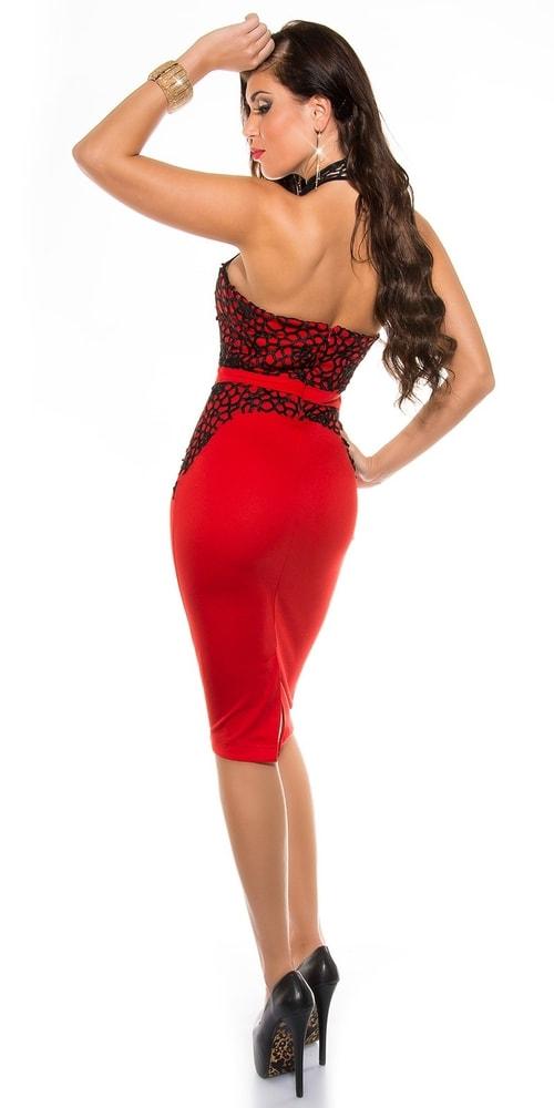 Puzdrové šaty červené - Koucla - Večerné šaty a koktejlové šaty ... 72a68b4fc71