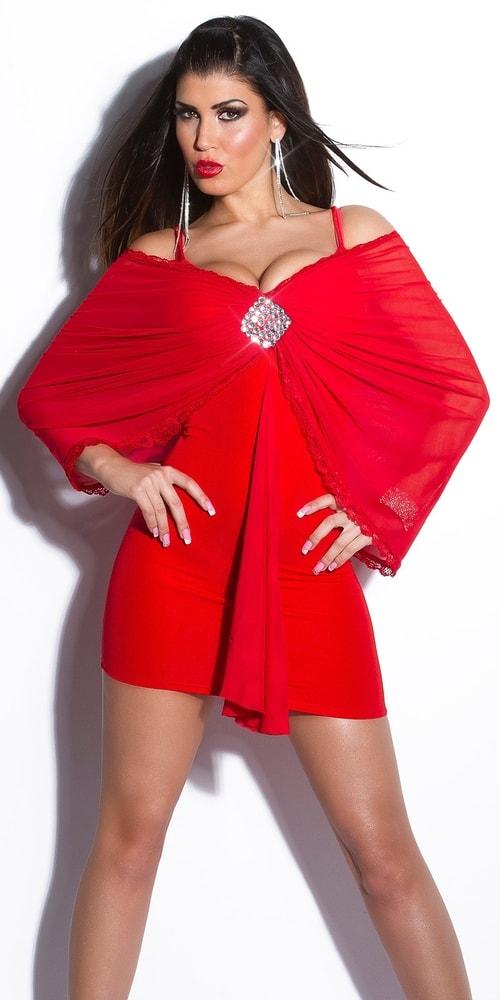 Červené dámské šaty - Koucla - Večerné šaty a koktejlové šaty - vasa ... d0583407fbb