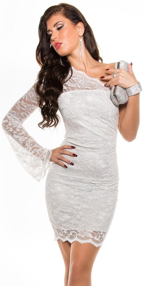Biele čipkované šaty - Koucla - Večerné šaty a koktejlové šaty - vasa ... ff26e9c2ef6