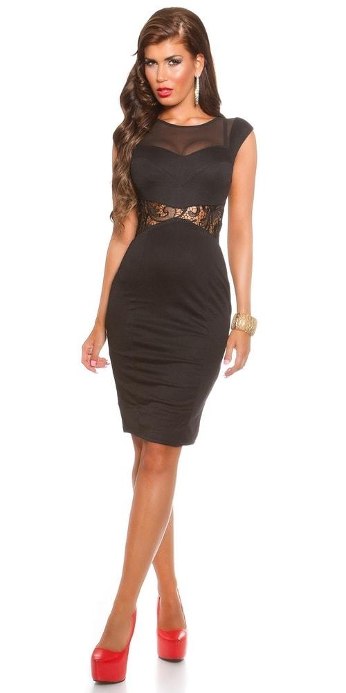 Koktejlové šaty - čierne - Koucla - Večerné šaty a koktejlové šaty ... 521b30fde16