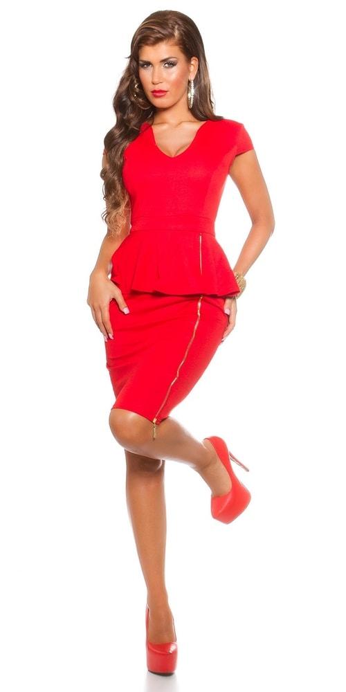 Červené elegantné šaty - Koucla - Večerné šaty a koktejlové šaty ... d1cd13d052c